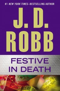 The author's name takes up the top half of the page, the title the next third, crime scene tape in a red and green glow the remaining