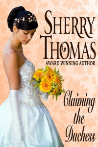A dark haired bride looks down at her hem, one hand holding a colorful yellow bouquet