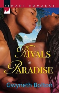 A black couple embrace on a beach, we see their faces and upper torso as he leans in to kiss her neck, she has her head tossed back and a swath of black fabric looped around his neck.