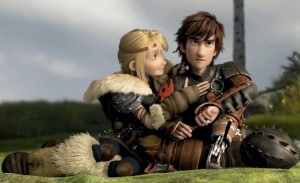 Animated characters sit on a field, the boy is angry, the girl placating.