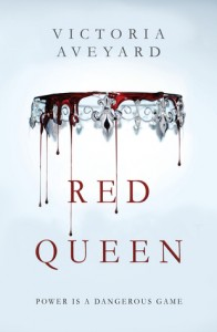 On a white background a silver diadem crown hangs upside down, dripping blood