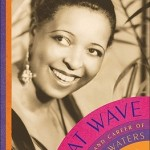 A photo of blue singer Ethel Waters smiling is set full page with the book information in a record pattern on the lower corner