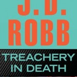 The author's name is the top half of the book, orange on a teal background, the title below in teal on black, the lower third a pair of red heels discarded in a room