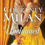 A yellow curtain hangs behind a white man seen only from nose down, his white shirt being pushed off his chest by a white woman in a matching yellow historical dress, his hand pulling her skirts up to her thighs