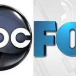 The logos for networks ABC and Fox
